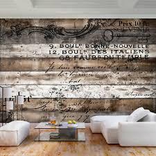 details zu vlies fototapete holz optik mauer braun steinwand tapete wohnzimmer wandbilder
