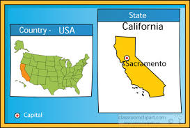 Sacramento California 2 State Us Map With Capital