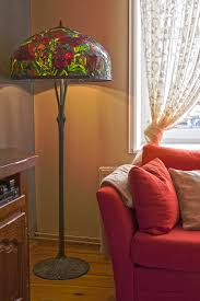 Tiffany Style Glass Torchiere Floor Lamp by Tiffany Floor Lamp Oriental Poppy Big Floor Stained Glass Lamp