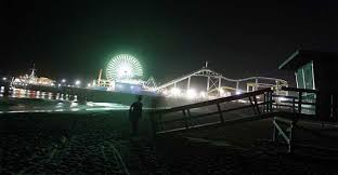 Santa Monica Beach At Night Credit Luis Sinco Los Angeles Times