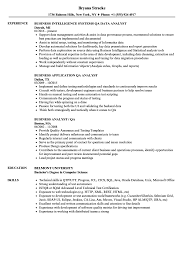 Business Analyst / QA Analyst Resume Samples | Velvet Jobs