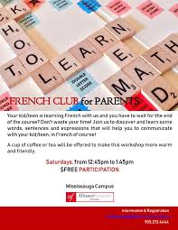 Alliance Française Toronto Mississauga French Club For Parents