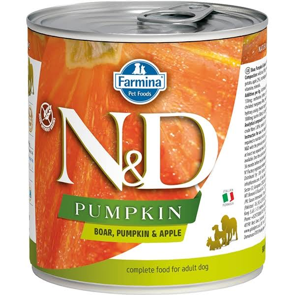 N and D Pumpkin Boar Dog Canned Food - 285g