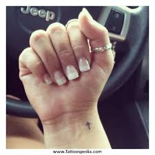 Cross Tattoos For Women On Wrist 5
