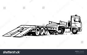100 Flatbed Hand Truck Trailer Drawn Illustration Stock Vector Royalty