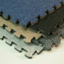 interlocking carpet tile basement and trade show with padding