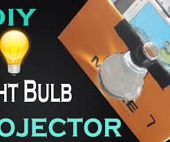 diy make light bulb smart phone projector at home easy way 9