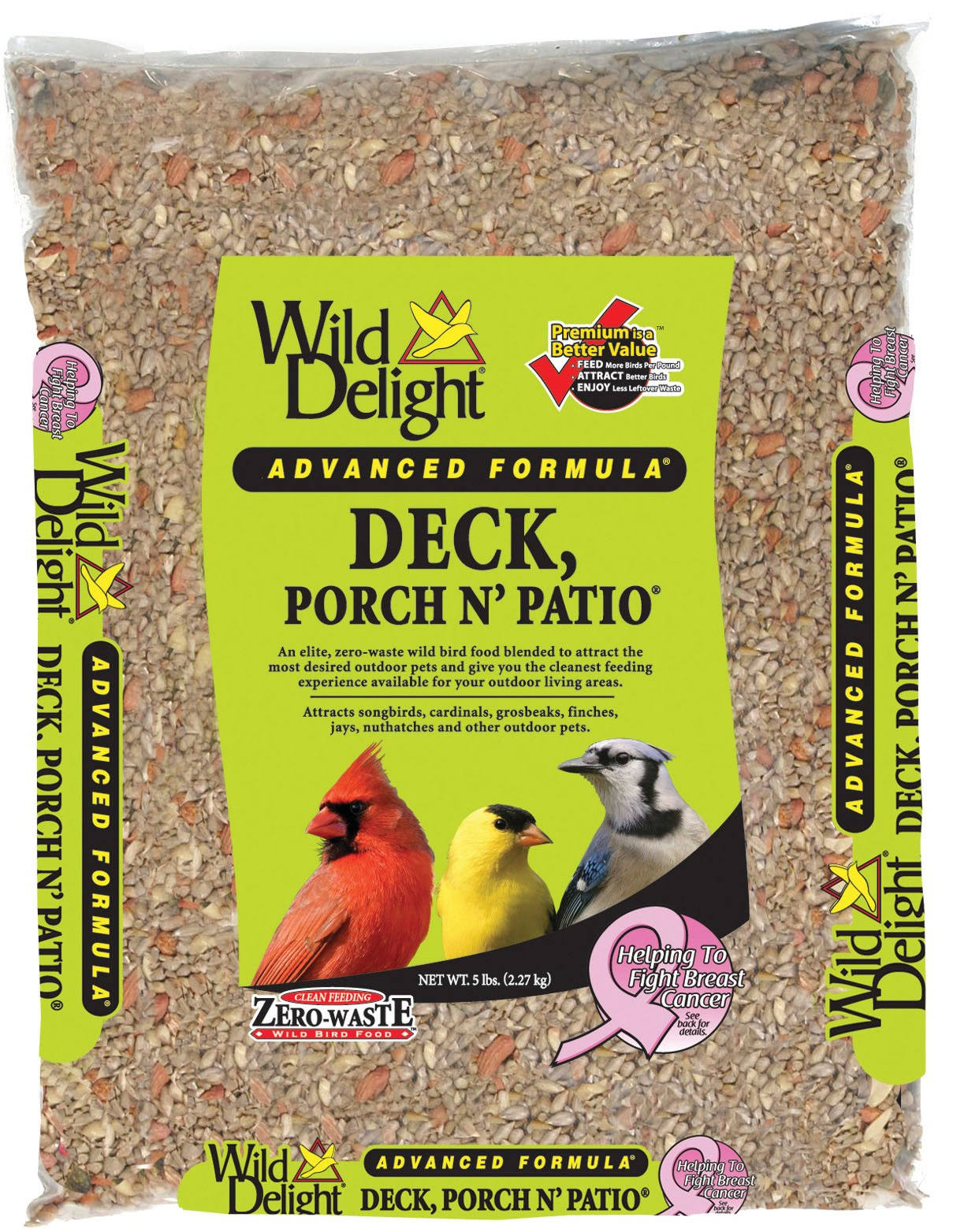 Wild Delight Advanced Formula Deck Porch N Patio Seed - 5lb