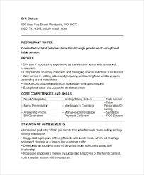 Sample Waiter Resume