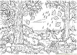 Autumn Tree Coloring Page