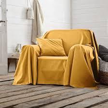 jetée canapé jeté de fauteuil ou canapé uni scenario la redoute