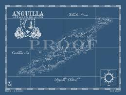 Map Of Anguilla British West Indies
