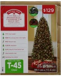 Holiday Time Pre Lit 7 Brookfield Fir Artificial Christmas Tree Clear Lights