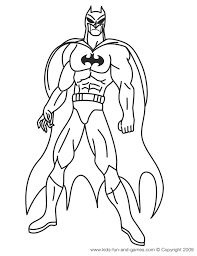 Batman Coloring Pages Courtesy Of Kids Games Central