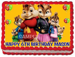 Alvin And The Chipmunks Cake Decorations by Ebluejay Alvin And The Chipmunks And Chipettes Cake Topper Edible