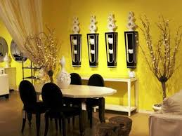 Home Decoration Yellow Dining Room Interior Color Design Trends 2014