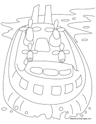 Hovercraft Coloring Pages
