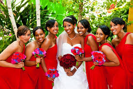 Red And Burgundy Wedding