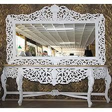 casa padrino riesige barock spiegelkonsole weiß mit