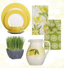 Home Decor Accessories Decorative Fabrics And Modern Tableware Inspired By Lemons Yellow Green Colors For Decorating