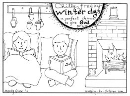 Holiday Season Share Gingerbread House Kindergarten Fireplace Coloring Page Free