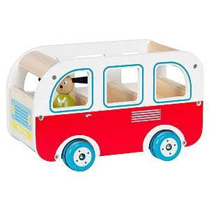 Moulin Roty La Grande Famille Wooden Bus Toy