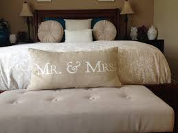 Mr And Mrs Throw Pillow Bedroom Decor Remodeling Romantic Marriage