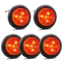 100 Truck Clearance Lights Amazoncom Partsam 5Pcs 25 Inch Round Trailer Led