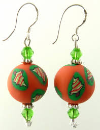 Frosty The Snowman Christmas Tree Ornaments by Frosty Single Ball Crystal Polymer Clay Earrings Christmas Tree
