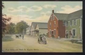 Postcard NAPLES Maine ME Main Street Post fice & Business