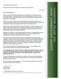 Last Day For 1 Any by Letters To Leaders W Conservation Requests U2013 Vancouver Island