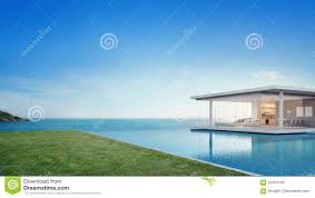 100 Modern Beach House Floor Plans Luxury And Sea View Swimming Pool Near Empty