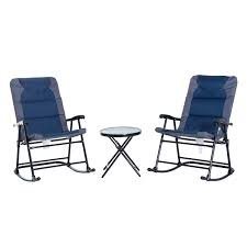 Aosom: Outsunny 3-Piece Folding Outdoor Rocking Chair And Table Set - Blue  And Grey | Rakuten.com Gci Outdoor Freestyle Rocker Portable Folding Rocking Chair Smooth Glide Lweight Padded For Indoor And Support 300lbs Lacarno Patio Festival Beige Metal Schaffer With Cushion Us 2717 5 Offrocking Recliner For Elderly People Japanese Style Armrest Modern Lounge Chairin Outsunny Table Seating Set Cream White In Stansport Team Realtree 178647 Wooden Gci Ozark Trail Zero Gravity Porch