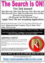 1st Annual Missmrs Diversity News Pageants