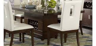 1410 92 Elmhurst Collection Wine Storage Table 7 Piece Dining Set