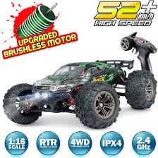 100 Brushless Rc Truck Hosim RC Car 116 Scale 2847 Remote Control RC Monster All Terrain 4WD High Speed 52KMh OffRoad WaterproofShockproofAntiSkid