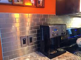 kitchen backsplash metallic wall tiles kitchen stainless steel