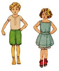 Girl In Summer Dress Clipart