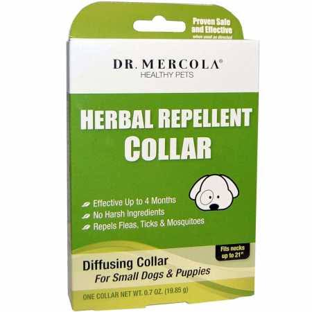 Dr. Mercola Dogs and Puppies Herbal Repellant Collar - Necks Up To 21""
