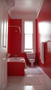 Round Red Bathroom Rug by 14 Best Color Red Bathrooms Images On Pinterest Red Bathrooms