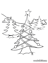 Christmas Tree Coloring Books by Christmas Tree Lights Coloring Pages Hellokids Com
