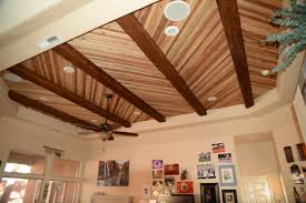 100 Beams In Ceiling Accenting A Plank With Faux Wood Workshop