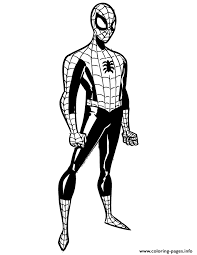 The Amazing Spider Man Colouring Page Coloring Pages Printable