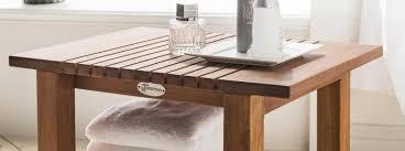 möbel destiny spa badezimmer tisch regal geriffelt teakholz