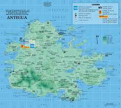 Antigua Map From Caribbean On Line