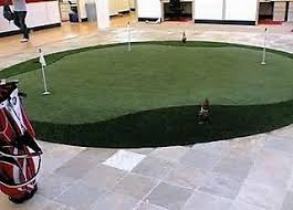 Putting green inside fice
