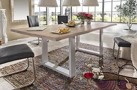 esstisch wildeiche massivholztisch tisch baumkante eiche esszimmer neu 200x100 bianco geölt