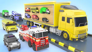 100 Big Truck Toys Learn Colors For Children With Street Vehicles