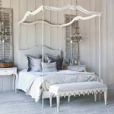 Canopy Bed Queen by Aria Queen Canopy Bed In Stone