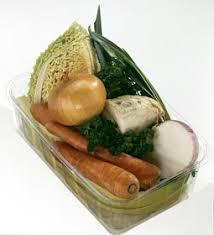 photos culinaires barquette de légumes pour pot au feu